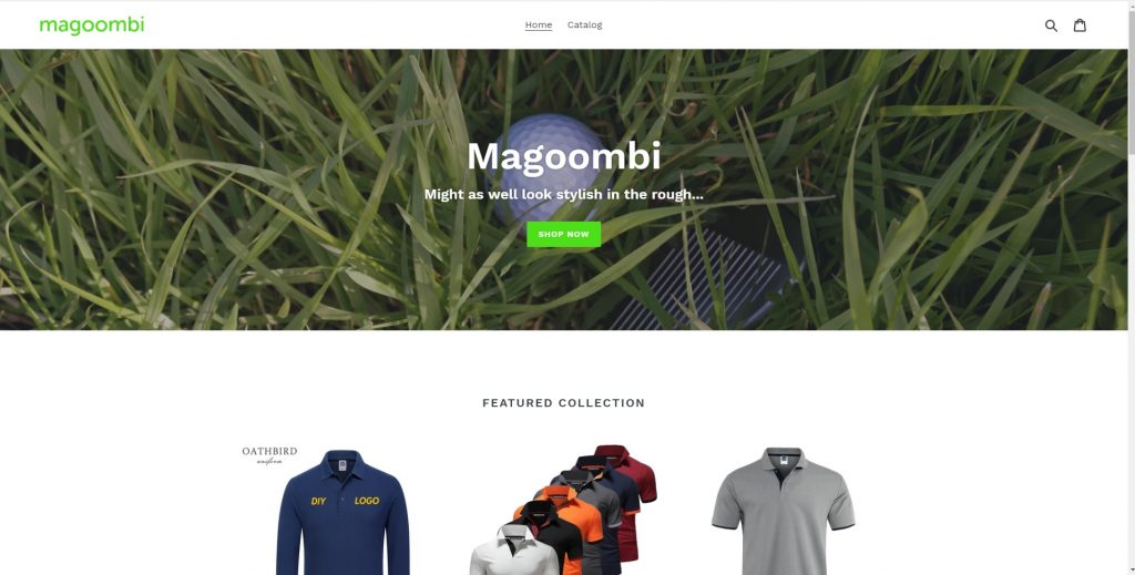 Magoombi Shopify Drop ship site 1