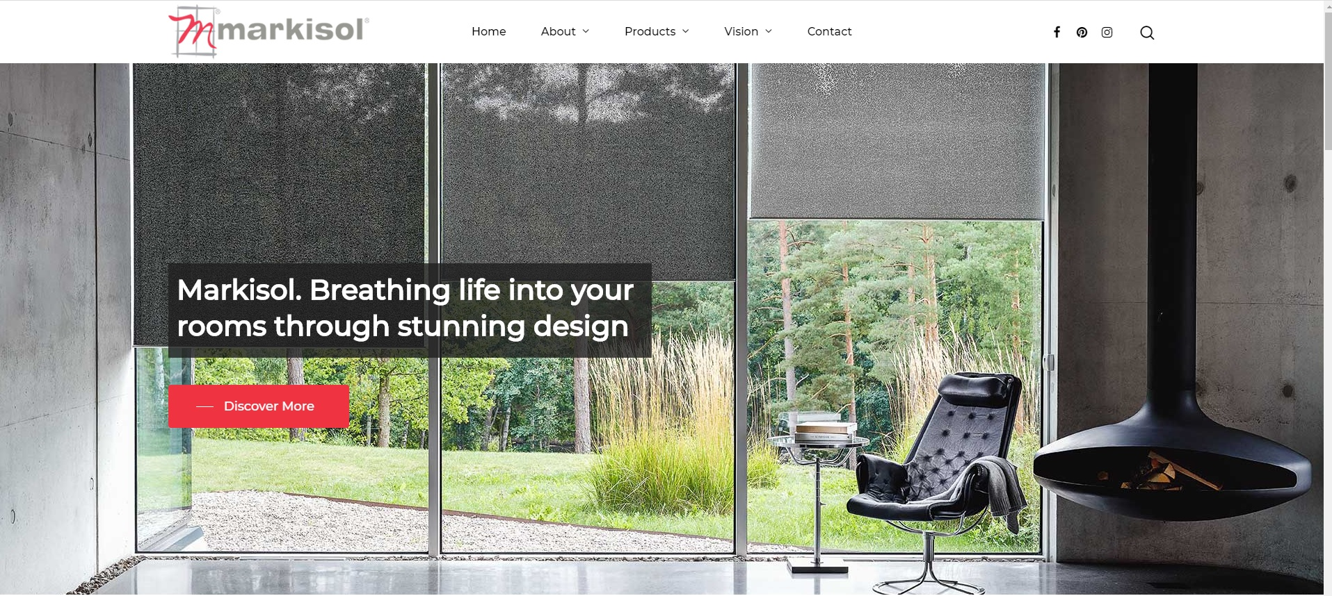 Markisol Blinds Website