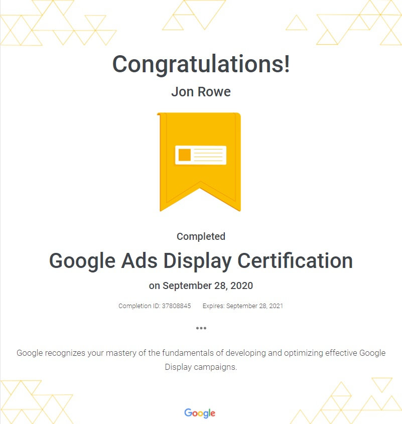 Savemi Google Display Ads Certification