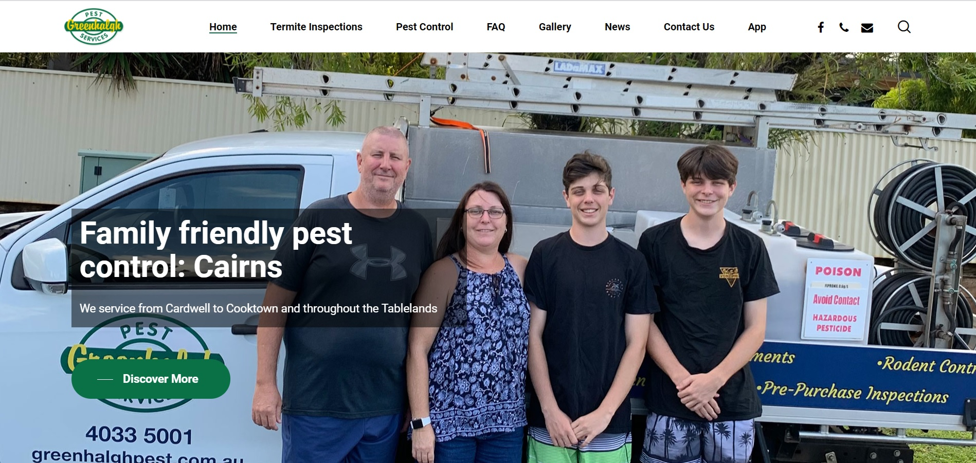 Greenhalgh Pest Control Trade site and Web app 1