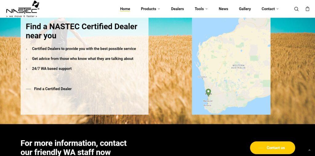Nastec Australia website 5